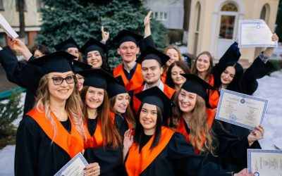 Graduation Ceremony of Master students in Psychology at Precarpathian National University, Ukraine, February 2019